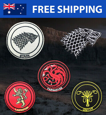 Game of Thrones Embroidered Patches - Embroidery Patch TV Series Gift for Fans