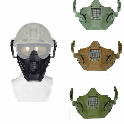 Airsoft Outdoor Tactical Military Helmet Combat Protective Half Face Mask