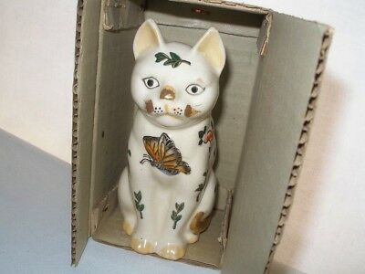 SMALL Special RARE Signed POTTERY CAT or Kitten NEW in BOX HandPainted FINE GIFT