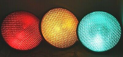 "12"" LED Traffic Stop Signal Lights  Set of 3 Red Yellow & Green .Gaskets 120V .."