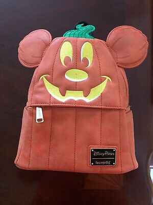 Disney Parks Loungefly Halloween 2019 Mickey Mouse Pumpkin Mini Backpack