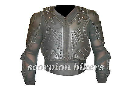 Motorcycle Motocross Body Armour Back Spine Protector Size L