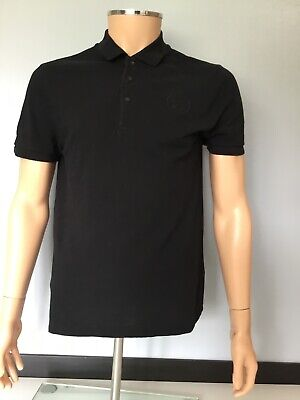 Versace Mens, Polo Top Tshirt, Short Sleeve, Black, Size L, In Vgc