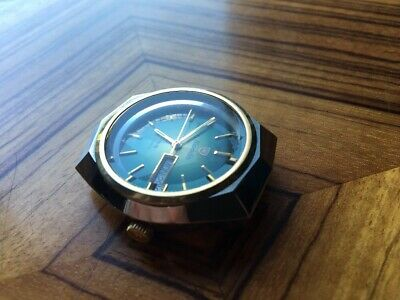 Nivada Grenchen F77 Day Date Automatic Swiss Made Vintage Watch Rare Nice!