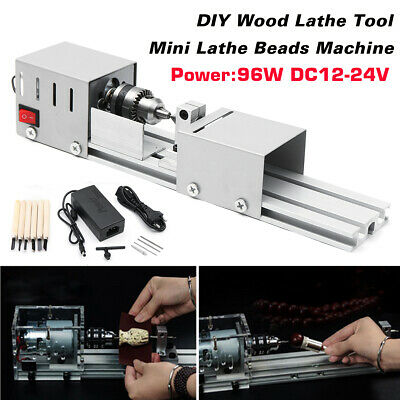 24V 96W Mini Lathe Beads Polisher Machine for Wood Woodworking DIY Rotary Tools
