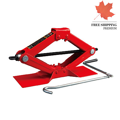 New Torin Red Steel Scissor Jack 1.5Ton 3000lb Capacity Car Vehicle Automobile