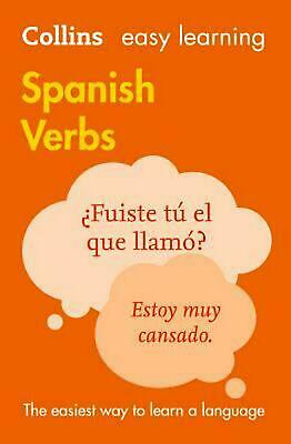 Easy Learning Spanish Verbs by Collins Dictionaries Paperback Book Free Shipping