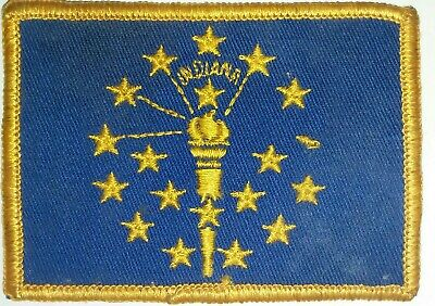 Vintage Indiana State Flag Patch