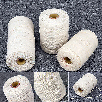 1~3mm Strong Natural Twisted Cord Rope Cotton DIY Crafts Macrame Artisan String