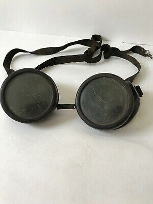 Antique WILLSON Goggles Safety Glasses Vtg Retro Welding Old Steampunk