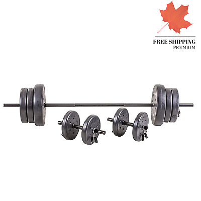 Weight Bar Set Training Gear Beginner 105 lb With Dumbells For Men and Women