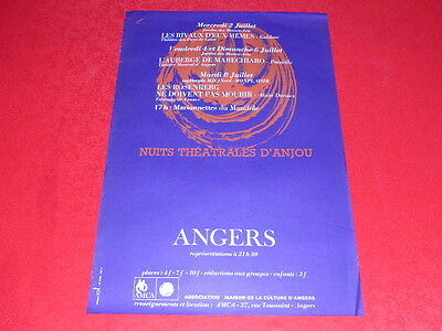 Coll.j. Le Bourhis Póster/Noches Teatro Anjou / Angers Amca 1969