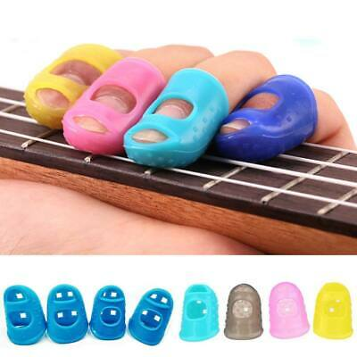 4X Silicone Guitar Fingertip Protectors Finger Guards Kit for Thumb Bass Ukulele