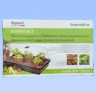 NEW Stewart Essentials Electric Heated Seed Plant Propagator 38cm Indoor Garden
