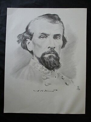Civil War Confederate Cavalry General Nathan Bedford Forrest - FRAME FOR A GIFT