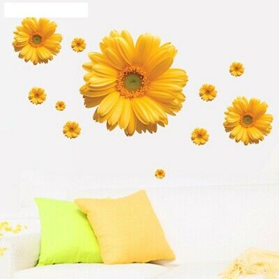 Chrysanthemum Flowers Wall Stickers Rooms Bedrooms Art Mural Home Decor Posters