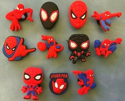 11 x SPIDERMAN Jibbitz Shoe Charm made for Crocs - Brand New