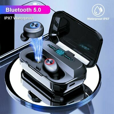 Mini TWS Bluetooth 5.0 Headset LED Wireless Earphones In-Ear Earbuds Headphones