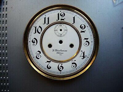 Antique German Vienna Regulator wall clock Gustav Becker two part Porcelain DIAL