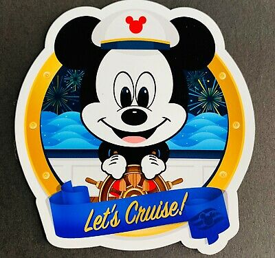 Disney Let's Cruise Round Car, Truck, SUV, Cruise Door Fan Art Magnet