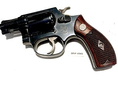 SMITH & WESSON K/l Frame Grips Square Butt S&w Medallion