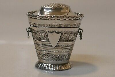 Antique 19th Century Austrian Hungry Silver Chatelaine Thimble Holder