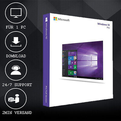 MS Windows 10 Professional - Win 10 Pro - 32&64 Bits - ESD, delivery per E-Mail