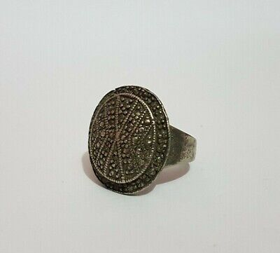 Rare Ancient Roman Ring Metal Artifact Old Vintage Museum Quality