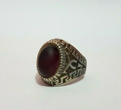 Rare Ancient Roman Ring Metal Color Silver Artifact Old Vintage Museum Quality