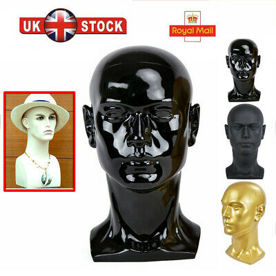 50CM Glossy Professional Male Mannequin Head for Display Gamer Headset Stand UK