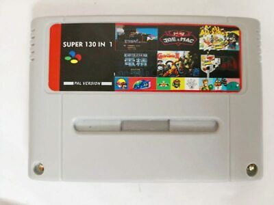 130 in 1 Super Nintendo SNES Multi Cart Game Card Cartridge PAL EUR Console