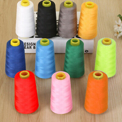 19style Sewing Thread 3000Yard Polyester Cone Spool for Serger Single Needle Sew