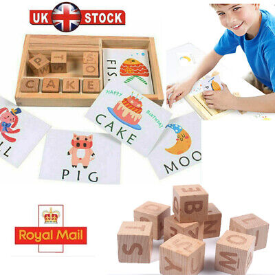 UK 3-in-1 Spelling Learning Game Wooden Spelling Words Enlightenment Baby Gift