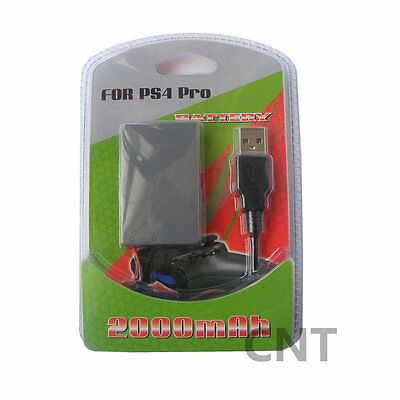 2000mah 3.7V Replacement new Battery Pack For Sony PS4 Pro Controller& USB Cable