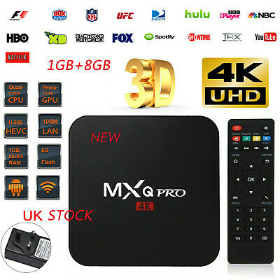 Newest Ultra 4K MXQ Pro Quad Core Android TV Box HD Sports 3D Media Player 2019*
