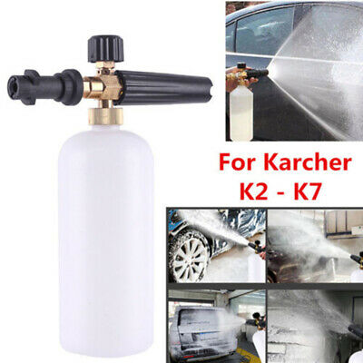 Snow Foam Cannon Soap Bottle Sprayer For Karcher Pressure Washer Gun Jet Car Was