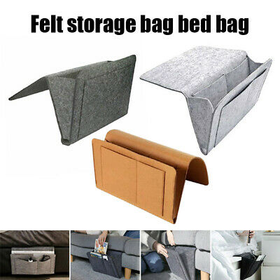 Hanging Bag Bedside Storage Organizer Holder Bed Pocket Sofa Phone Caddy New