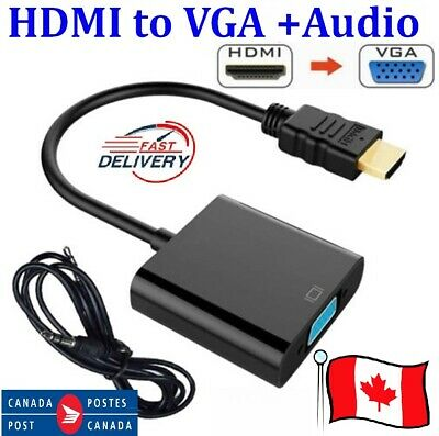 HDMI Male to VGA Female Video Cable Adapter 1080P Cord Converter For DVD players