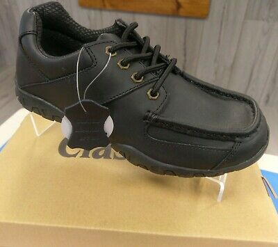 Boys - Black LEATHER Back To School - Quality Shoes SIZES 2 & 3