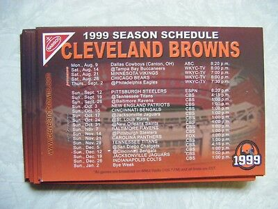 1999 Cleveland Browns Magnet Schedule Lot of (13) (1st Year Back) NFL Football