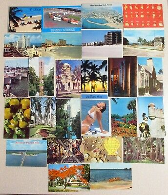 Vintage Lot of 100 Unposted Chrome Florida Postcards for Mailing or Collecting