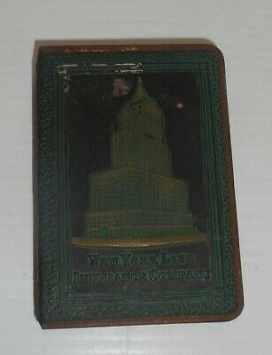 "New York Life Insurance Company Coin Book Bank 2 7/8"" W x 4 3/8"" H x 7/8"" thick"