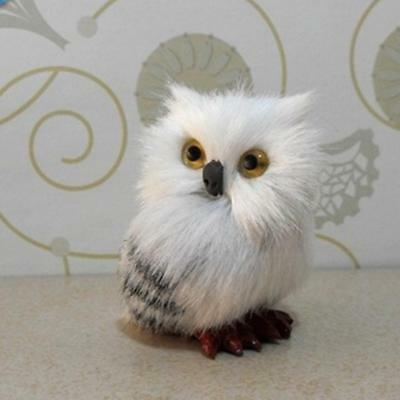 Cute  Realistic Hedwig Owl Toy Mini Simulation Model Christmas Gift New LZ