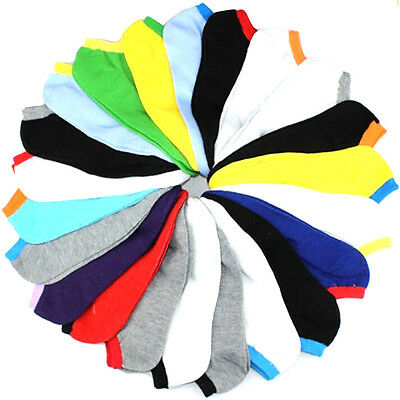 5 Pairs  Men Fashion Ankle Low Cut Sport Socks No Show Casual Candy Color LZ