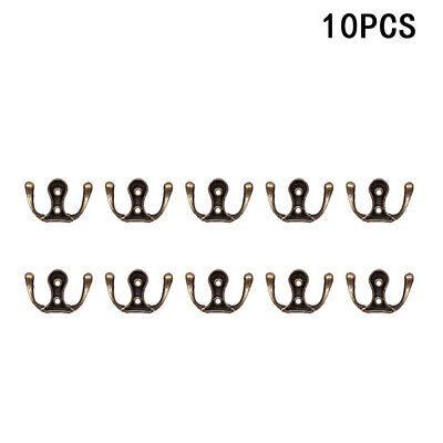Hb- 10Pcs Antique Zinc Alloy Wall Door Hooks Clothes Coat Hat Bag Towel Hangers