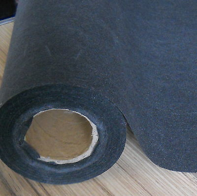 CHARCOAL / BLACK MEDIUM WEIGHT IRON-ON INTERFACING PRE CUT PACK 92 CM x 69 CM
