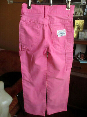 6 SLIM 20x20 GIRLS TRUE Vtg 70s WRANGLER HOT PINK HIPPY CARPENTER PANTS JEANS