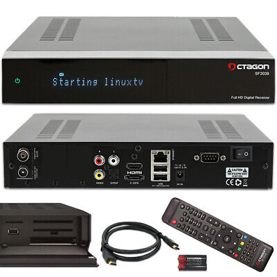 OCTAGON SF3038 E2 HD 1 x DVB-C/T2 Tuner Dual-Core Full HD TV Kabel terrest Linux