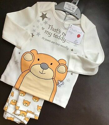 Mothercare Thats Not My Teddy Pyjamas Age 6-9 Months