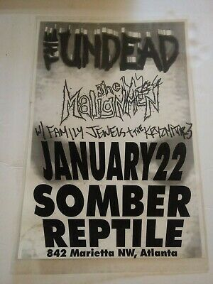 The Undead Tour Poster Signed by Bobby Steele The Misfits Punk Rock Atlanta